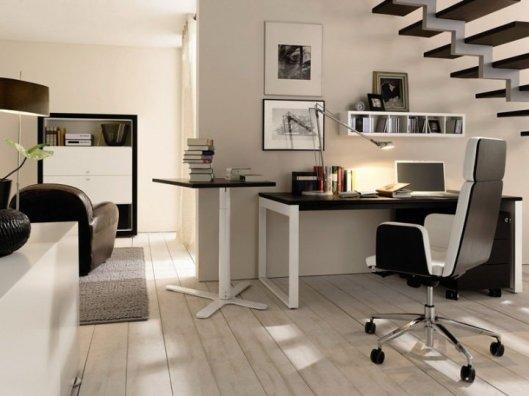 Оргтехника в интерьере стильного домашнего кабинета